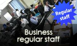 Business regular staff