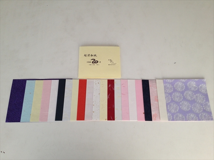 Echizen Washi Origami Paper Set(20 sheets) picture e