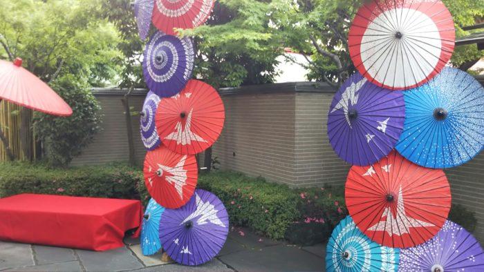 Japanese umbrella tower