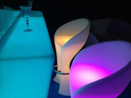(English) Glowing Tables and Chairs 光るテーブルとイス