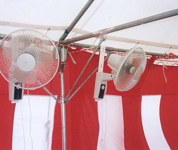 Keep Cool in Tents Outside During Summer with these Wall Mounted Fans!!!