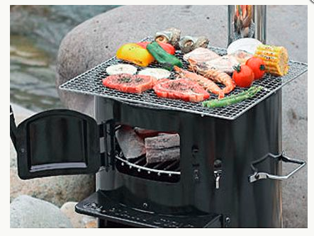 (English) Have a Great BBQ with this Awesome Chimney BBQ at Your Camp!!!