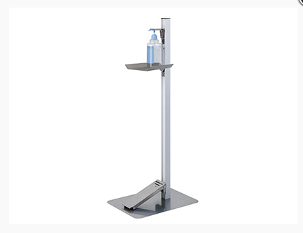 (English) Prevent the Flu and COVID-19 with this Hand Sanitizer Stand w/ Foot Pedal!!!