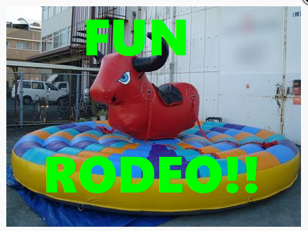 Let your Kids Experience a little bit of Texas with this Air Rodeo Bull!!!