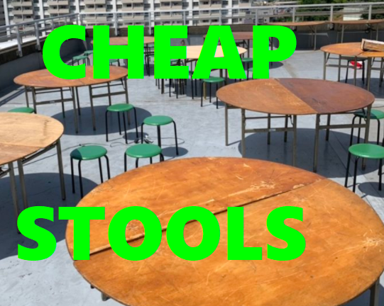 (English) Save Space and Money on your Next Event with these Round Green Stools at Event21!!!