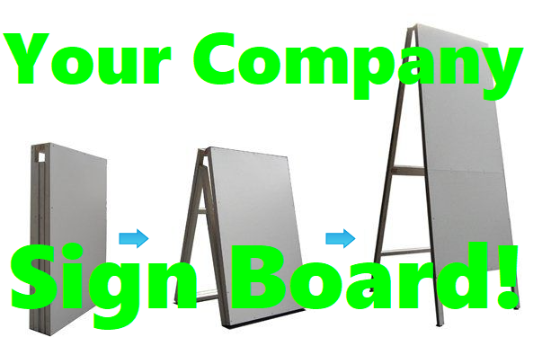 (English) These A-Shape Sign Boards are Great for Advertising or for Directions!!!