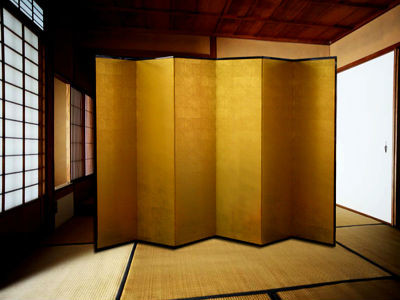 Japanese folding screen Picture a