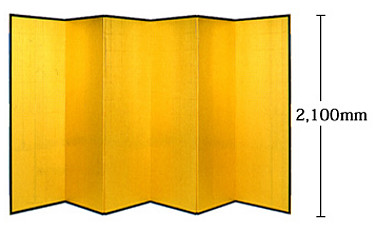 2100mm high golden Japanese folding screen
